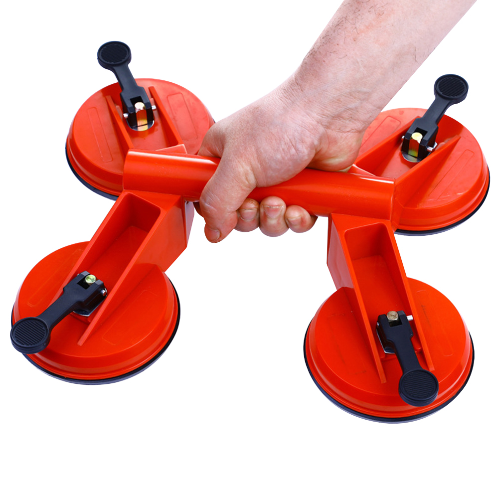 Practical Four Pad Puller 120kg Sucker Plate Suction Cup Transport Strong Bearing Vacuum Carrying Tile Mirror Glass Lifter