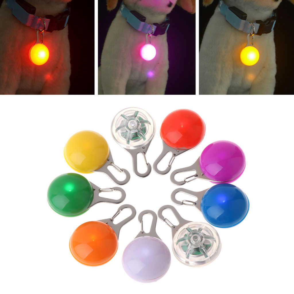 Pet Pendant Safety LED Flash Light Glow Collar Puppy Dogs Cat Luminous Identify JUL-4D