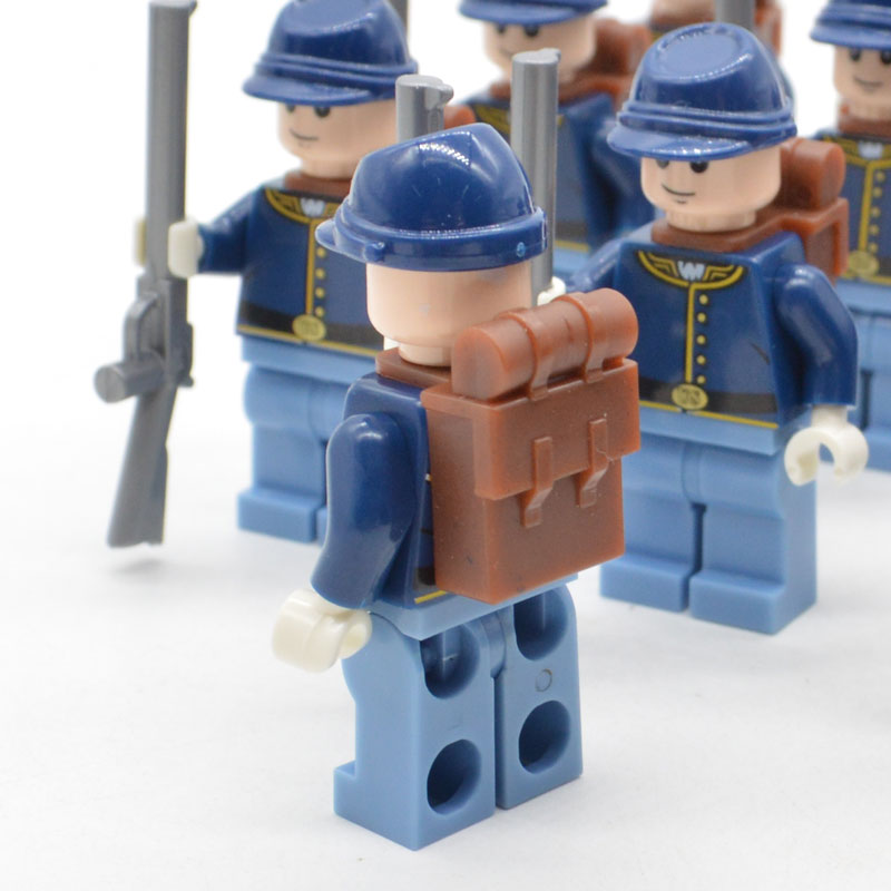 Image 2 - Limited Lot American Civil War Soldier North US Revolutionary War MOC Building Blocks Toy for Children-in Blocks from Toys & Hobbies