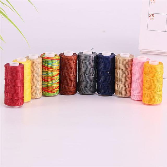 20 pièces dun ensemble bricolage tricot ligne couture cire cordon coloré aiguille fil Durable couture fil bricolage artisanat (couleur aléatoire 12M)