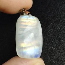 Top qualité lumière bleue pierre de lune naturelle pierre gemme pendentif 25x15mm femmes fête anniversaire cadeau cristal guérison AAAAA