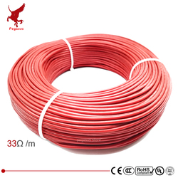 100m 12k 33ohm silicone rubber carbon fiber heating cable 5V-220V floor heating  high quality infrared heating wire