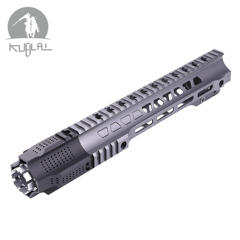 Aluminium Hard Coat Geanodiseerd JAILBREAK 12 ''14'' Airsoft handguard Grijs Tactical Rail voor AEG Gel Blaster