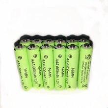 12 шт/лот v 600mah aaa перезаряжаемая батарея с дистанционным