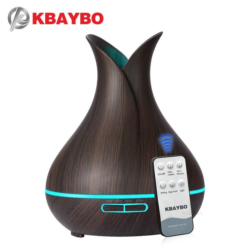 KBAYBO 400ml électrique ultrasons arôme Air humidificateur huile essentielle diffuseur bois Grain purificateur brumisateur lumière LED pour la maison