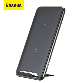 Baseus 10W 3 Coils Wireless Charger For iPhone 11 X/XS XR Multifunction Qi Wireless Charging Pad Horizontal/Vertical Charger Pad