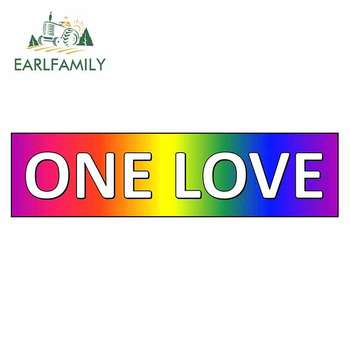 EARLFAMILY 13cm x 3.4cm for Gay Rights RAINBOW Same Sex Marriage Equality Funny Car Stickers RV VAN 3D DIY Fine Decal Graphics image