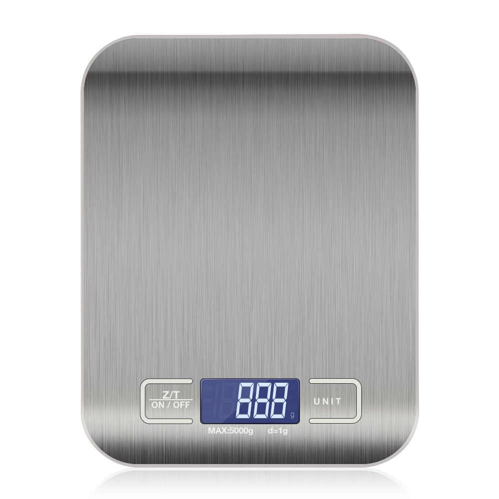 10Kg/5Kg Oz/ML/LB/G Timbangan Dapur Stainless Steel Berat Skala Makanan Diet pos Keseimbangan Alat Ukur LCD Timbangan Elektronik