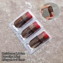3 unidades/pacote cartucho de substituição para vagens recarregáveis do dispositivo da infinidade de relx 1.0ohm vazio vape vagens 2.5ml