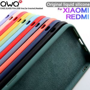 Original velvet Liquid Silicone Case For Xiaomi mi 9 9SE 10 A3 Note 10 Lite Redmi Note 6 7 8 K30 9T 9S 9 PRO Mi9 Case Back Cover