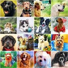5D DIY Алмазная картина собака животное мозаика Алмазная вышивка продажа наборы крестиков Полный Круглый Стразы картина домашний декор