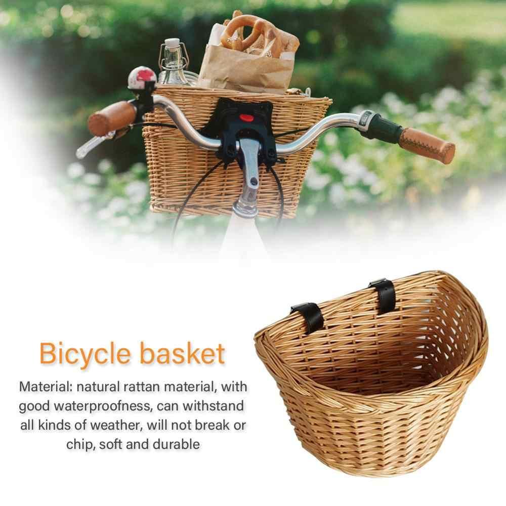 BICYCLE HANDLEBAR BASKET BAG BIKE REFLECTIVE FRONT PANNIER TUBE WATERPROOF BLING