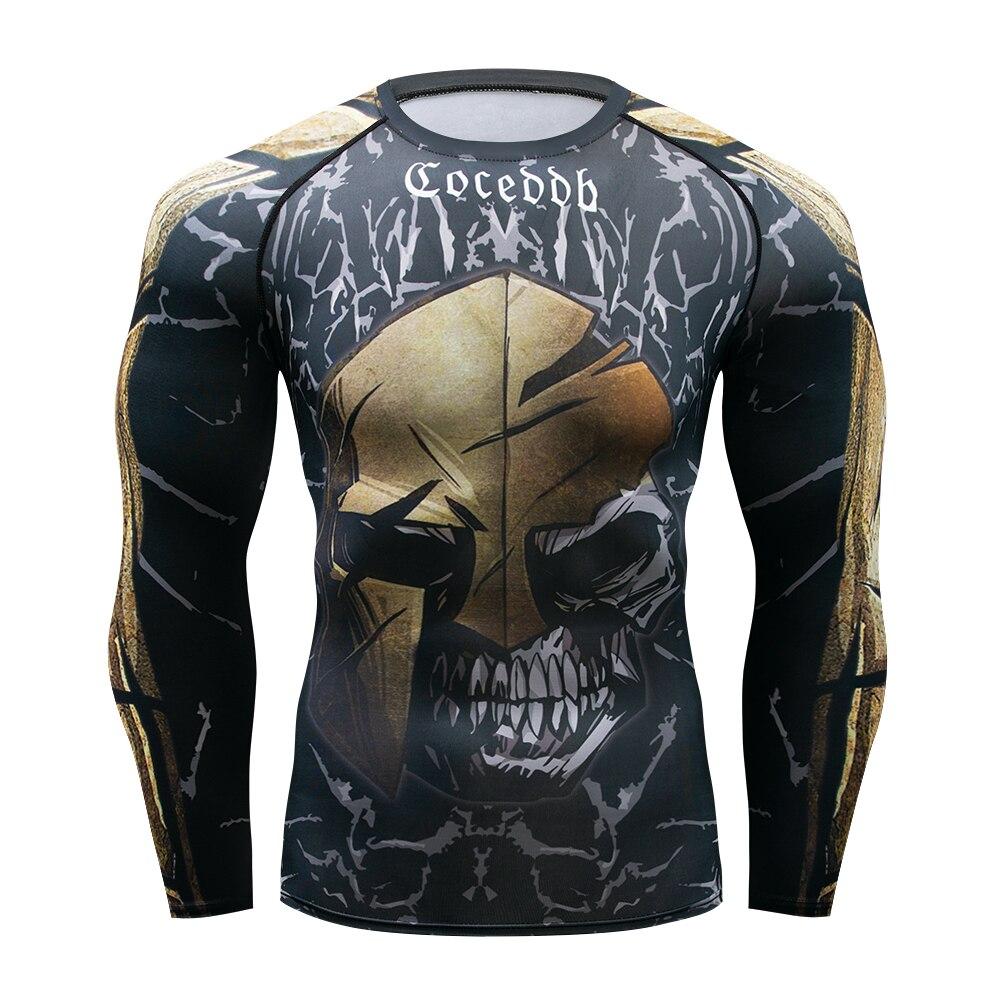Image 4 - Muay Quick Dry Rash Guard t shirt Men Long Sleeve Rashguard  Boxing Compression Jersey KickBoxing Tight T Shirts MMA FightwearBoxing  Jerseys