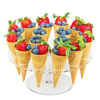 Ice Cream Candy Acrylic Holder Cones Holders Stands16 Holes Or 8 Holes For Wedding Party Kids Birthday Party Buffet  Display