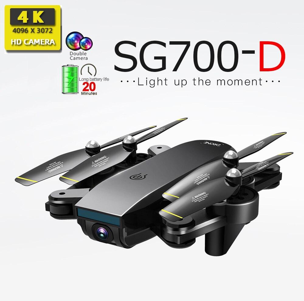 Drones com câmera hd mini drone rc helicóptero 4 SG700-D k brinquedos quadcopter dron drohne profissional com câmera quadrocopter SG700