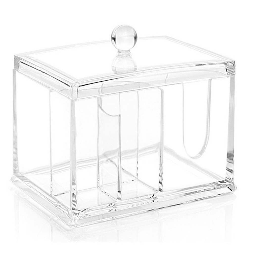 Swab Clear Stick Cotton Bud Makeup Toothpick Holder Dustproof Acrylic Storage Case