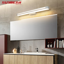 Modern LED Mirror Wall Lamps For Bedroom Bathroom Study Waterproof Wall Light Fixture Acrylic Wall Mounted Living room Lighting(China)