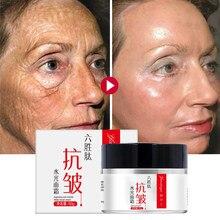 Seis crema péptido de colágeno anti-arrugas crema blanqueadora de ácido hialurónico hidratante anti-envejecimiento nutritiva suero para el cuidado de la piel