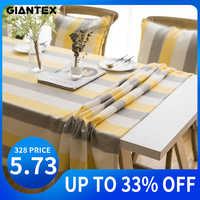 GIANTEX Wasserdicht Dekorative Tisch Tuch Tischdecke Rechteckigen Esstisch Abdeckung Obrus Tafelkleed kaminsims mesa nappe