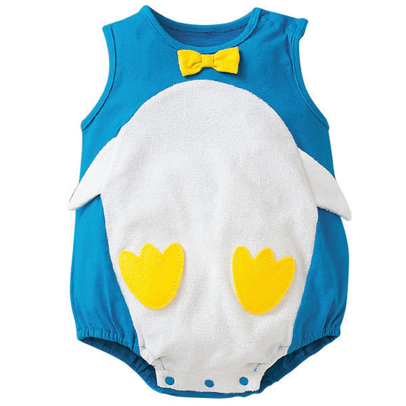Summer Baby Cotton Sleeveless Fruit Cow Flag Climbing Clothes Triangular Cool Package Fart Romper