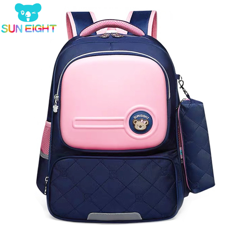 SUN EIGHT Orthopedic Backpack Girls School Bags School Bag For Girl Zipper Kid School Bag Cute Children Backpack  Mochila Escol