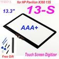 Сенсорный экран AAA + 13,3 дюйма для HP Pavilion X360 13S 13-S series, сменный дигитайзер сенсорного экрана 13,3 дюйма для HP 13-s056nw 13-s003na
