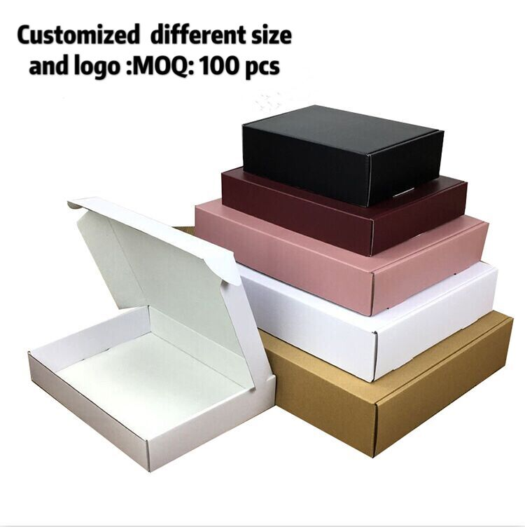 10pcs/lot  Paper Box Brown Cardboard Handmade Soap Box White Craft Paper Kraft  Gift Box Black Packaging Jewelry Box