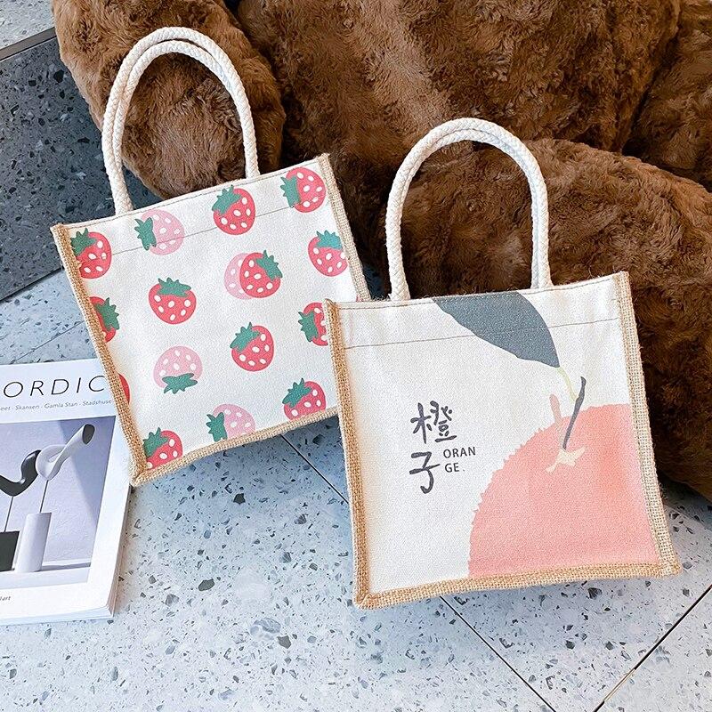 Borsa Shopper donna vari modelli borsa a tracolla con cerniera in tela carina borse grandi riutilizzabili pieghevoli borse in cotone ecologico
