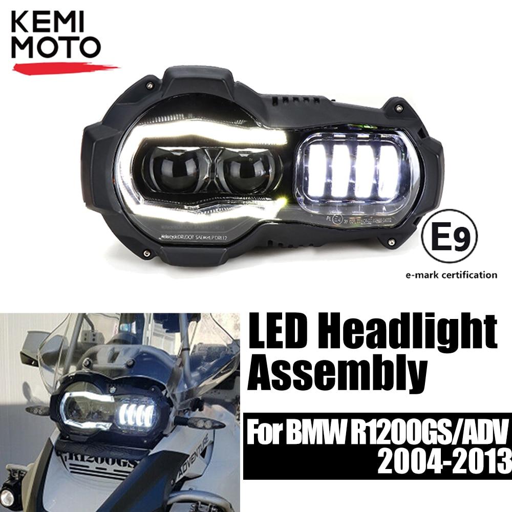 E9 Mark Headlight For BMW R1200GS Adventure 2004-2012 Motorcycle LED HeadLights For BMW GS 1200 GS Adventure Headlight Assembly
