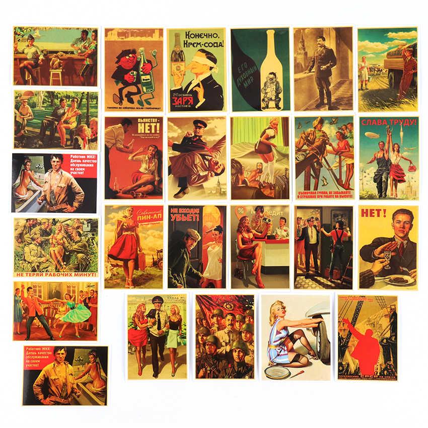 TIE LER 25PCS Misto Stalin Poster Graffiti Adesivi Per Il FAI DA TE Del Computer Portatile Dei Bagagli Porta Del Frigorifero Decor Impermeabile Toy Sticker