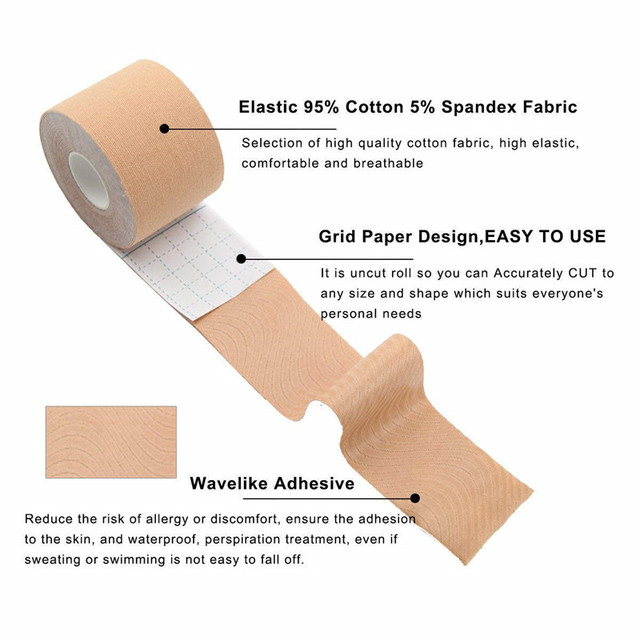 Dropshipping 5M Body Invisible Bra Women Boob Tape Nipple Cover DIY Breast Lift Tape Push Up Sticky Bra Lift Up Boob Tape 1 Roll 5