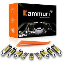 KAMMURI 9X No Error blanco LED Interior del coche Paquete de bulbos Kit para 2001-2005Toyota RAV4 RAV-4 luces interiores LED