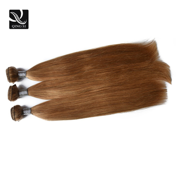 9A Honey Blonde Color Straight Hair Unprocessed Brazilian Human Virgin Hair Bundle Deals 27# Color Light Blonde Straight Hair