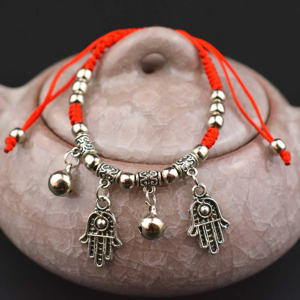 สีแดงสร้อยข้อมือข้าวโพด/ม้า/ช้าง Bell จี้ด้ายฝ้าย Braided กำไลข้อมือสร้อยข้อมือเครื่องประดับเครื่องประดับของผู้หญิง accesories3