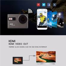 "RICH F68B Action Camera 4K Wifi 2.0""LCD Action Cam UHD Waterproof Sport Outdoor Video Camera 12MP 170 Degree Mini DV Camcorder(China)"