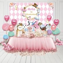Fairy Tale Wonderland Background Cartoon Girl Birthday Party Photography Backdrop Photo Booth Props Vinyl Photocall Photozone