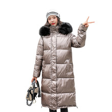 2019 Hot Sell Hooded Ladies Coat Long Coats Parka oversize female jacket mid-long women coat winter thick womens down