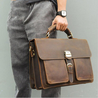 Genuine Leather Women Briefcase Red Real Leather Laptop Bags Female Male Ladies Work Tote Casual Messenger Bag Office Portfolio