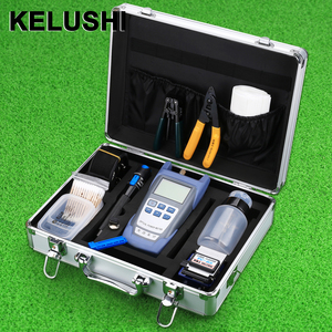 Image 1 - KELUSHI FTTH Fiber Optic Tool Kit with Fibra Optica Power Meter and Visual Fault Locator and Cable Cutter Stripper FC 6S Cleaver
