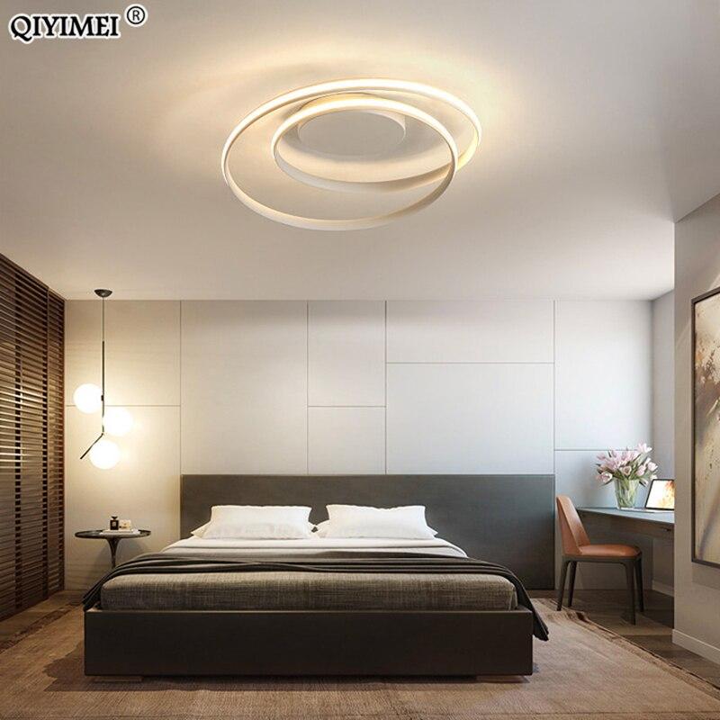 Modern Chandeliers LED Lamp For Living Room Bedroom Study Room White black color surface mounted lights Lamp Deco AC85-265V 2
