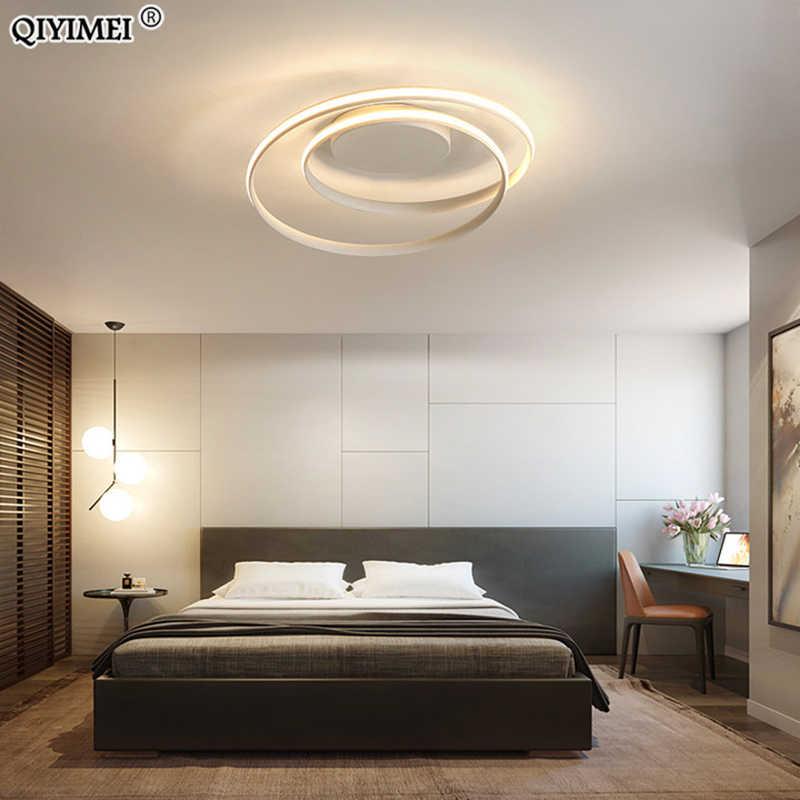 現代のシャンデリアledランプリビングルーム白黒色表面実装ライトランプデコAC85-265V