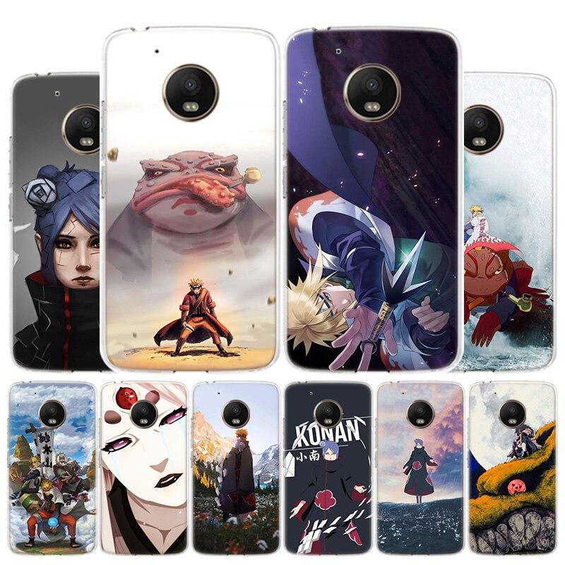 Akatsuki Pein Konan NARUTO Phone Case For Motorola Moto G8 G7 G6 G5S G5 G4 E6 E5 E4 Plus Play Power One Action X4 Cover Coque
