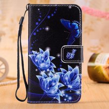 Cute Flowers Leather Phone Case for Huawei