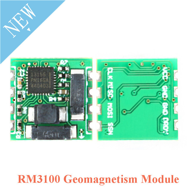 PNI RM3100 Geomagnetism Sensor Module Triaxial Magnetic Field Sensors SPI Interface High Accuracy 13156 13104 13101