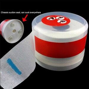 Dispensador de rollo desechable de auto succión para salón soporte de caja de papel para cuello accesorios de corte de pelo práctico contenedor impermeable