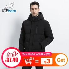 ICEbear 2019 nuevo invierno cálido moda Casual abrigo hombres chaqueta cálida capucha a prueba de viento hombres Parkas alta calidad abrigo MWD18856I