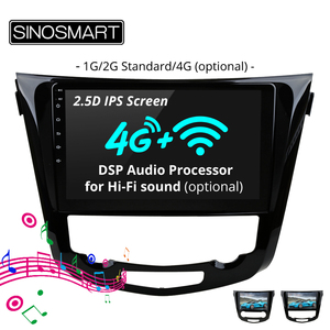 Image 1 - SINOSMART Stock in RU EU IPS/QLED Android 7.1 Car Navigation GPS Player for Nissan X trail/Qashqai 2013 18 Support 360 system