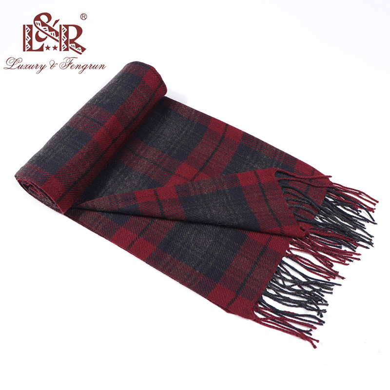 2019 Cashmere Man Scarf Winter Warm Foulard Plaid Scarves Fashion Casual Scarfs Wool Bufandas Hombre Male Thickness Shawl Sjaal title=