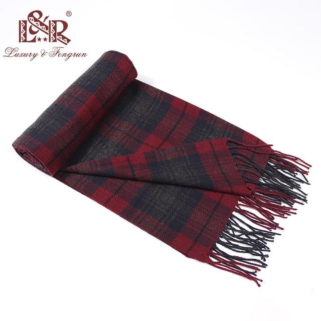 2020 Cashmere Man Scarf Winter Warm Foulard Plaid Scarves Fashion Casual Scarfs Wool Bufandas Hombre Male Thickness Shawl Sjaal