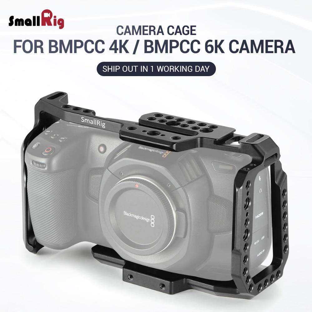 SmallRig Cage For Blackmagic Design Pocket Cinema Camera 4K BMPCC 4K / BMPCC 6K With NATO Rail Thread Holes For DIY Options 2203